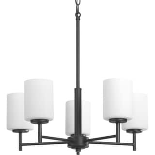 Progress Lighting P4319-31 Replay Black Steel/Porcelain 5-light Up/Down Chandelier