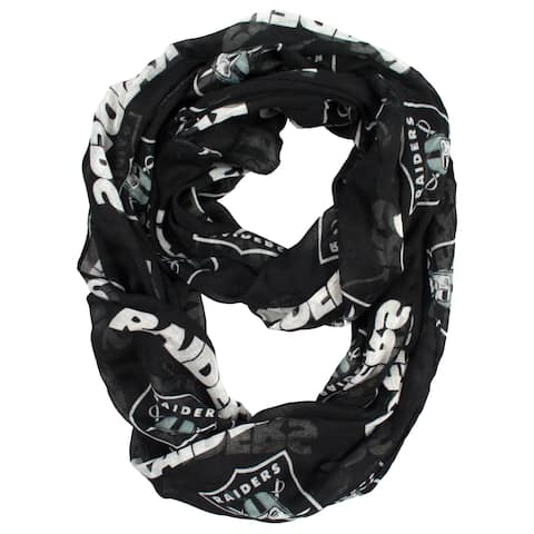 Oakland Raiders NFL Sheer Infinity Scarf