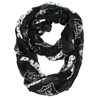 Oakland Raiders NFL Sheer Infinity Scarf