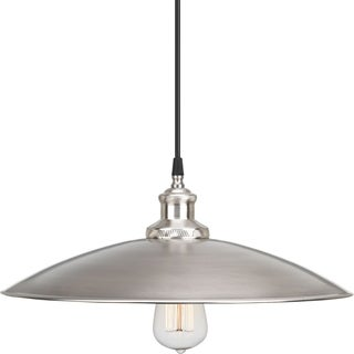 Progress Lighting P5124-81 Archives Steel 16-inch 1-light Pendant with Black Cloth Cord