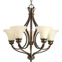 Progress Lighting Applause Bronze Steel/Porcelain 5-light Chandelier