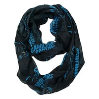 Carolina Panthers NFL Sheer Infinity Scarf