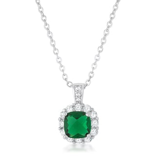 Kate Bissett Liz Rhodium 2.6-carat Emerald Cubic Zirconia Necklace