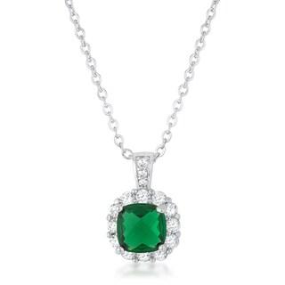 Kate Bissett Liz Rhodium 2.6-carat Emerald Cubic Zirconia Necklace - White