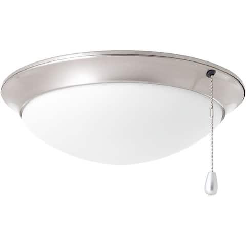 Progress Lighting AirPro Nickel-finished Steel Ceiling Fan Lighting Kit - Grey