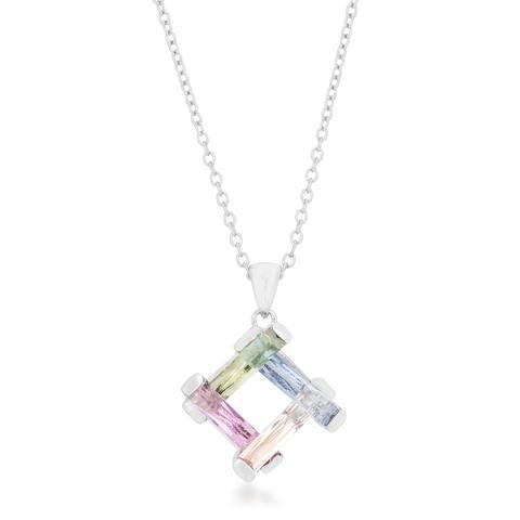 Kate Bissett Myra White Brass Cubic Zirconia Necklace