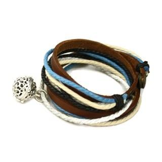 'Seaside' Leather Wrap Diffuser Bracelet/ Choker Necklace