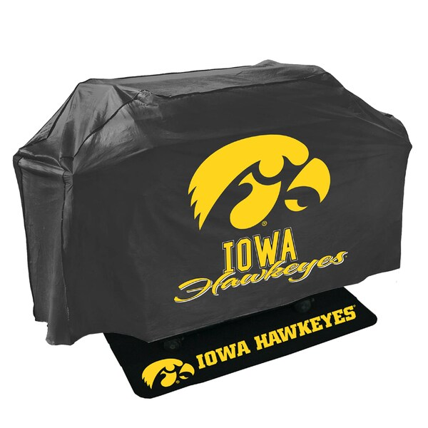 Iowa Hawkeyes NCAA Grill Cover and Grill Mat Set