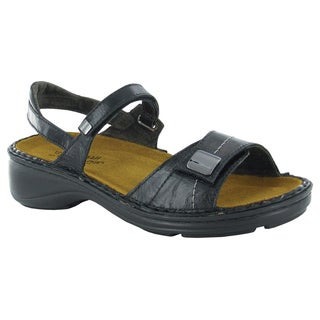 Naot Papaya Women's Black Leather/Suede Comfort Sandal