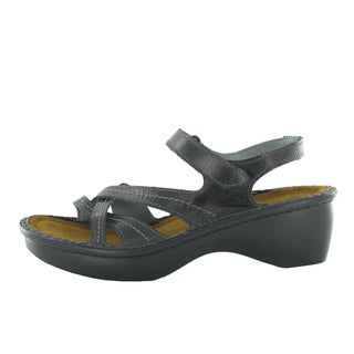 Naot Women's Paris Black Suede/Leather/Polyurethane Comfort Sandal