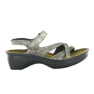 Naot Women's Paris Silver Leather/Suede/Polyurethane Comfort Sandal|https://ak1.ostkcdn.com/images/products/12053374/P18923895.jpg?impolicy=medium
