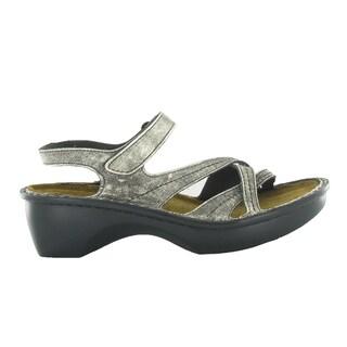 Naot Women's Paris Silver Leather/Suede/Polyurethane Comfort Sandal