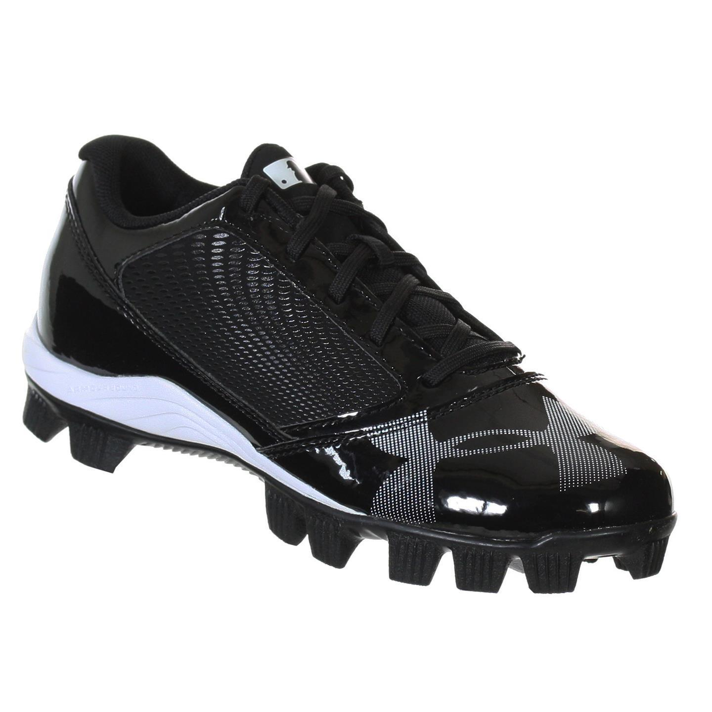 Under Armour Kid's Black Synthetic Baseball Cleats (10), ...
