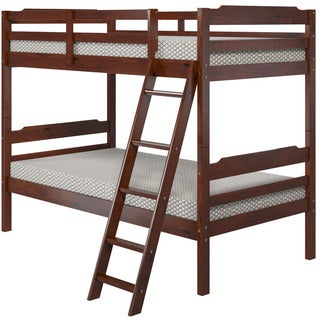 Manhattan Comfort Hayden Solid Pine Wood Twin Size Bunk Bed