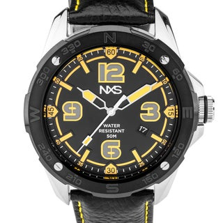 NXS Kadono Men's Sport/Casual Miyota Quartz Watch, Genuine Leather, Exceptional Luminescence