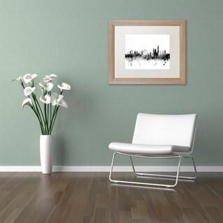 Michael Tompsett 'London England Skyline B&W' Matted Framed Art