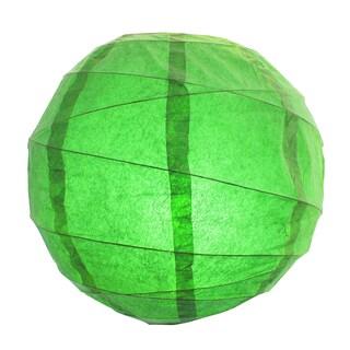 Green 12-inch Criss Cross Paper Lanterns (Set of 5)