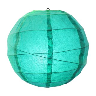 Turquoise 12-inch Criss Cross Paper Lanterns (Set of 5)