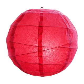 Red 12-inch Criss-cross Paper Lanterns (Set of 5)
