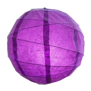 Purple 12-inch Criss Cross Paper Lanterns (Set of 5)
