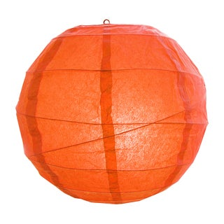 Orange 12-inch Crisscross Paper Lanterns (Set of 5)