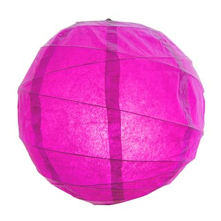 Fuchsia 12-inch Criss-cross Paper Lanterns (Set of 5)