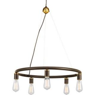 Progress Lighting Swing Brown Porcelain and Steel Five-light Chandelier