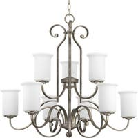 Progress Lighting P4250-144 Stroll 9-light 2-tier Chandelier