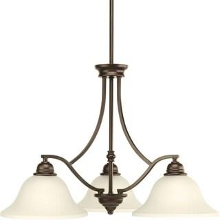 Progress Lighting P4559-20 Spirit Bronze Steel/Ceramic 3-light Chandelier