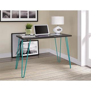 Ameriwood Home Owen Espresso/ Teal Retro Desk