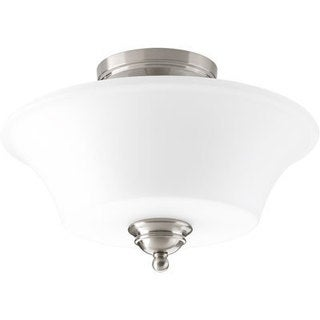 Progress Lighting Applause Brushed Nickel Steel 2-light Flush Mount