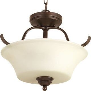 Progress Lighting P3507-20 Applause Antique Bronze Steel 2-light Semi-flush Convertible