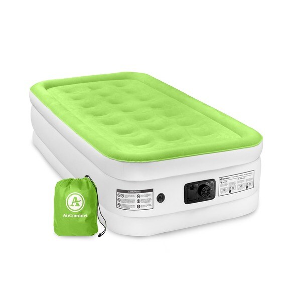 Air Comfort Dream Easy Twin Size Raised Air Mattress with Built-in Pump