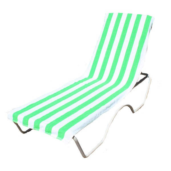 J M Home Fashions Lounge Chair Cover Beach Towel With Pocket 26