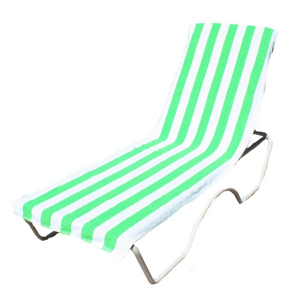 """J & M Home Fashions Lounge Chair Cover / Beach Towel With Pocket (26""""""""x82"""""""")"""