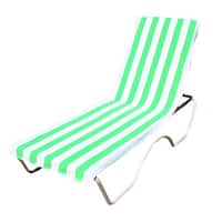 "J & M Home Fashions Lounge Chair Cover / Beach Towel With Pocket (26""""x82"""") - 26 x 82"