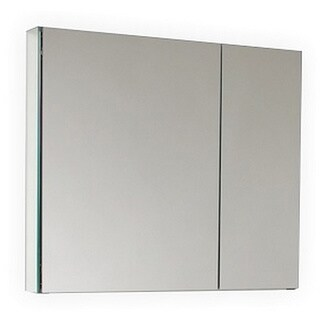 Kube Bath Tona Mirrored Aluminum 30-inch Medicine Cabinet with 2 Soft-closing Doors