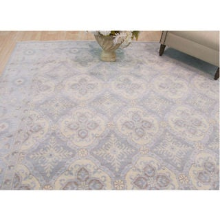 EORC Khotan Blue Wool Hand Knotted Rug (8' x 10')