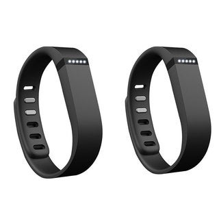 Fitbit Flex Wireless Activity + Sleep Wristband (2-Pack, Black)