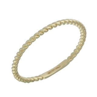 14k Yellow Gold Size 7 Stackable Rope Ring