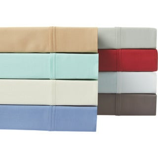 6 Piece- Solid luxurious Wrinkle Resistant 300 Thread Count Cotton Sheet Set