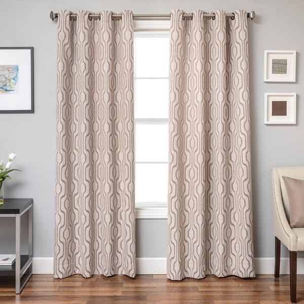 Shop Softline Incline Ikat Grommet Top Curtain Panel