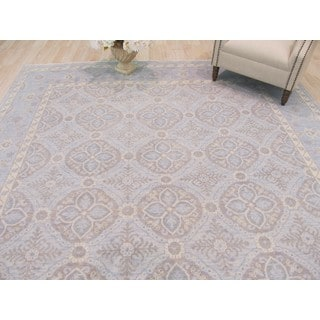 EORC Chotan Blue Wool Hand-knotted Rug (9'x12')