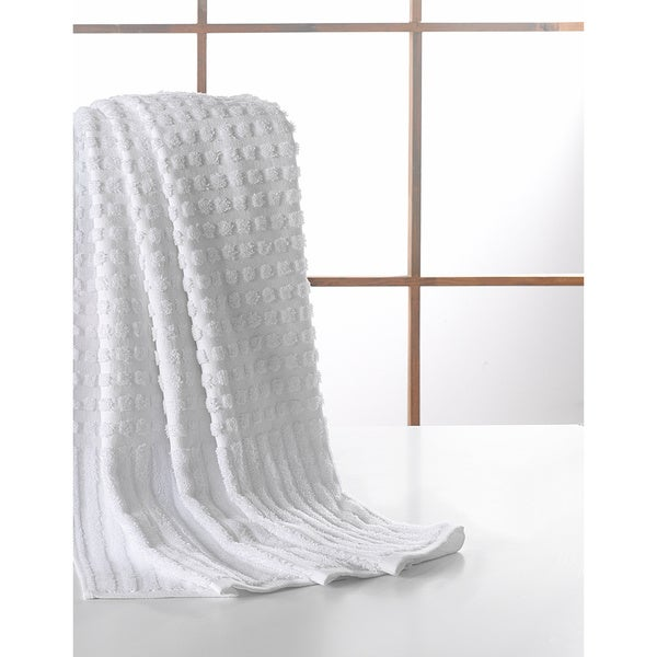 Ottomanson Pure Turkish Cotton Collection 27 Inch X 55 Bath Towel