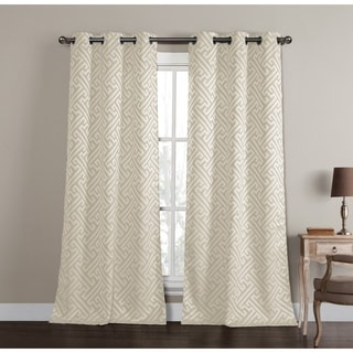 Duck River Araroma Blue/Green/Silver Polyester Jacquard Grommet Curtain Panel Pair