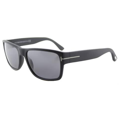 f4ba634cb30 Tom Ford TF 445 Mason 02D Matte Black Plastic Rectangle Sunglasses Grey  Polarized Lens