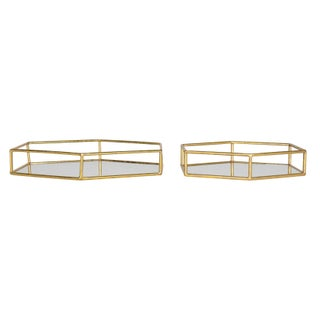 Kate and Laurel Felicia Decorative Mirrored Tray (3 options available)