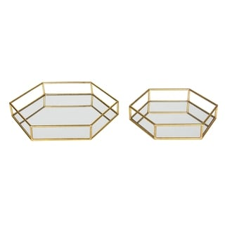 Link to Kate and Laurel Felicia Decorative Mirrored Tray Similar Items in Accent Pieces