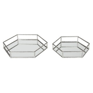 Kate and Laurel Felicia Decorative Mirrored Tray