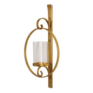 Gold Metal Wall Sconce